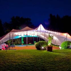 white stretch tent durn