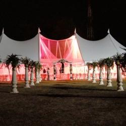 white alpine tents