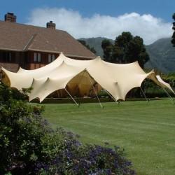 beige stretch tents