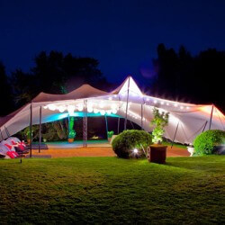 Stretch tents night view