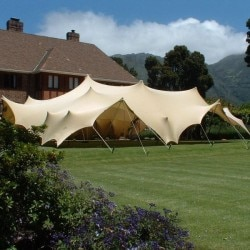 beige stretch tent