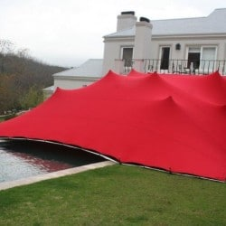 red stretch tents in durban