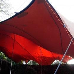 red stretch interior