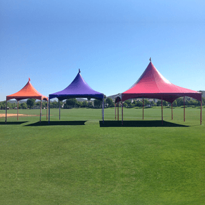 Colourful pagoda tents