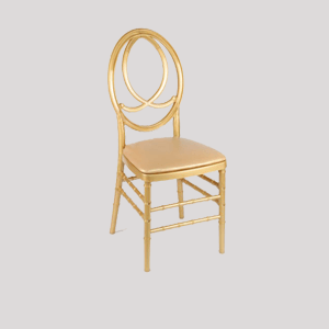 full gold channel chairs