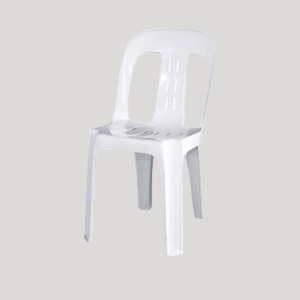 white plastic chairs